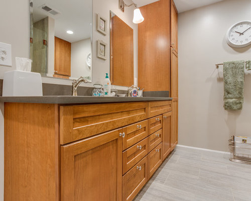 Transitional Bathroom Remodel Cheverly Md By Reico Kitchen Bath