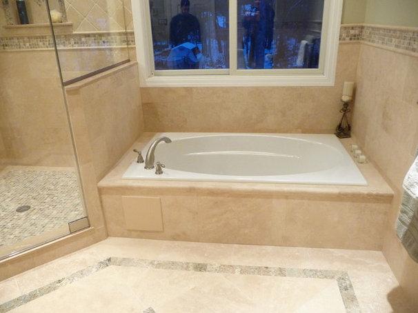 Modern Bathroom by StoneMar Natural Stone Company LLC