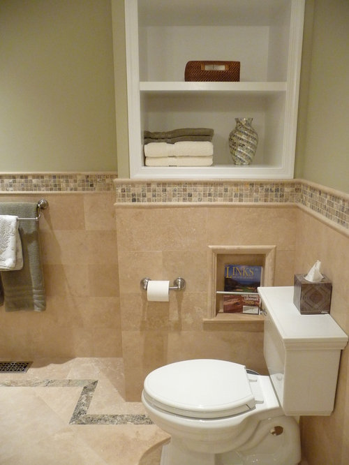 Pics for travertine tile bathroom for Travertine tile in bathroom ideas