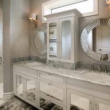 Transitional Bathroom by Renée Gaddis Interiors