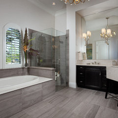 contemporary bathroom by Romanza Interior Design