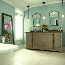 Transitional Bathroom by SH interiors