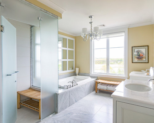 Bathroom Design Ideas Remodels Photos With Yellow Tile