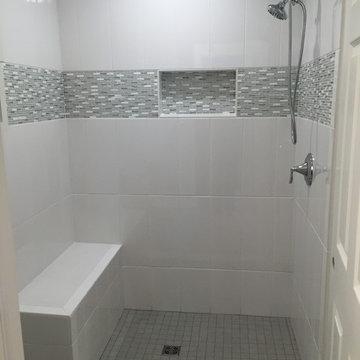 Transitional Bathroom Tile Remodel