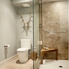 Transitional Bathroom by Elizabeth Metcalfe Interiors & Design Inc.
