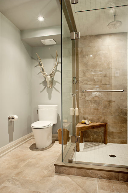 Transitional Bathroom by Elizabeth Metcalfe Interiors & Design Inc.