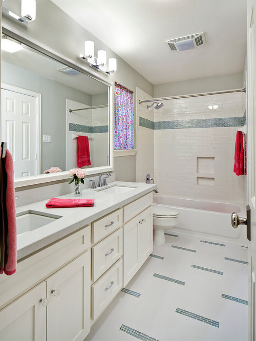 tubshower combo photo in other with cabinets white cabinets
