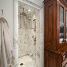 Beach Style Bathroom by Anne Sneed Architectural Interiors
