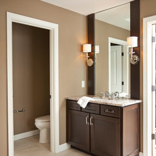 Transitional Bathroom by Ideal Cabinetry Design