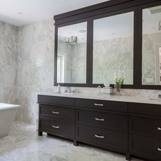 Transitional Bathroom by David Small Designs