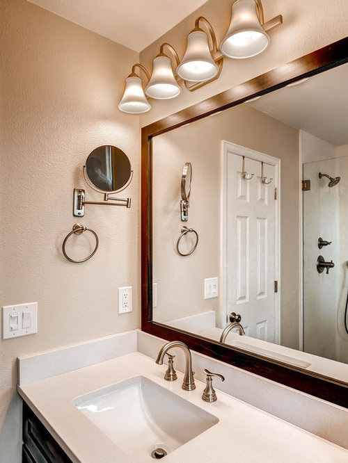 Transitional elegance in updated master bath for Updated master bathrooms