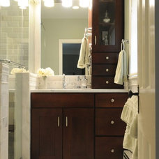 Transitional Bathroom by Terranova Construction, K & B