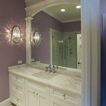 Transitional Marble Bath