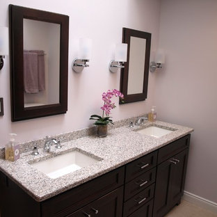 Transitional Master Bath with a Hotel Flair