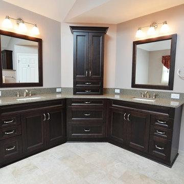Transitional Master Bathroom in Aurora, IL