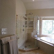 Transitional Bathroom by BRY design
