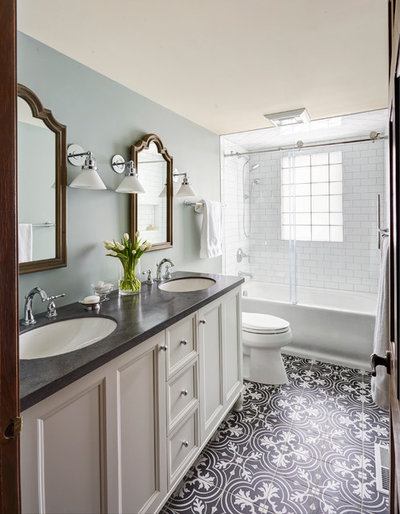 Transitional Bathroom by The Kitchen Studio of Glen Ellyn