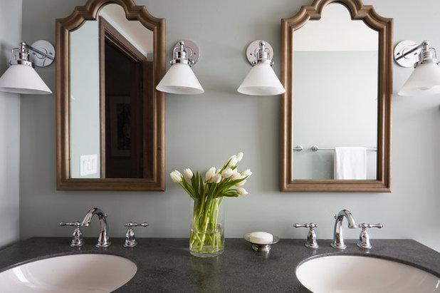 Transitional Bathroom by The Kitchen Studio of Glen Ellyn
