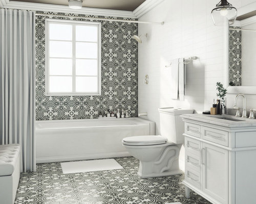 example of a transitional bathroom design in other save photo the home depot