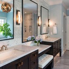 Transitional Bathroom by Sroka Design, Inc.