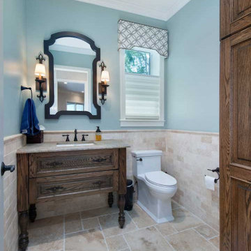 Transitional Powder Room Remodel in Ft. Myers, FL