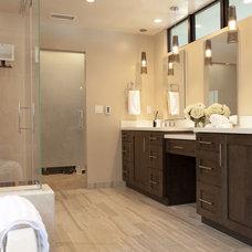 Transitional Bathroom by Beach Kitchens,LLC