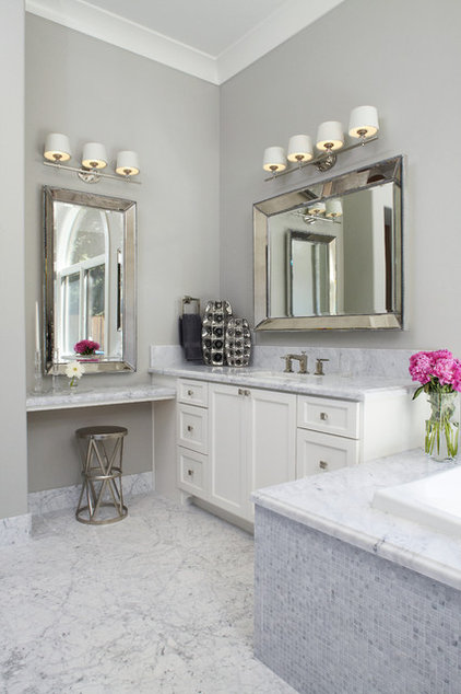 Transitional Bathroom by Fautt Homes