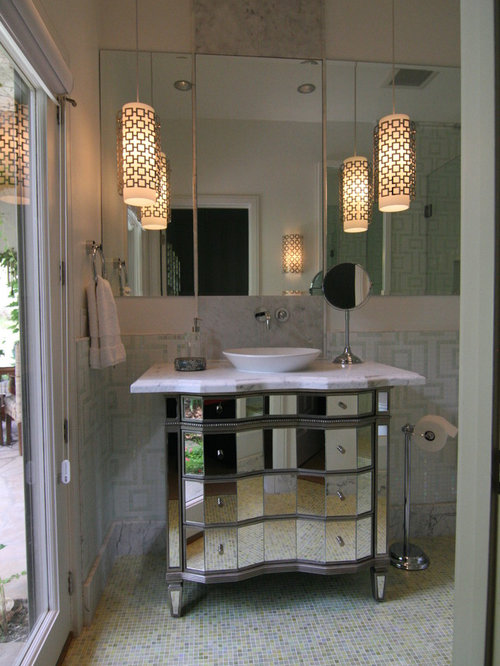 Pendant lights above vanity houzz for Lighting over bathroom vanity