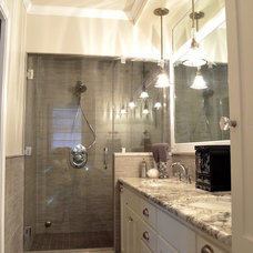 Transitional Bathroom by Kustom Home Design