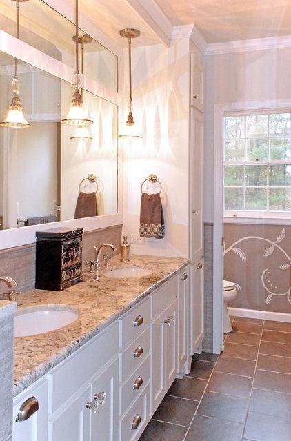 Traditional Bathroom by Kustom Home Design