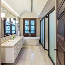 Transitional Bathroom by Douglas Design Studio