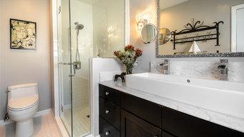 Transitional Vessel Sink Bathroom Design