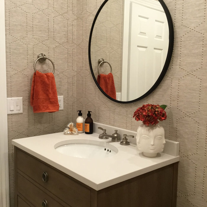 Transitional Watchung Powder Room