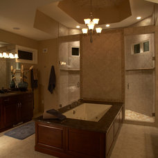 Transitional Bathroom by Laurie Driscoll Interiors