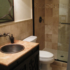 Traditional Bathroom by Homework Remodels ~ Tri-Lite Builders