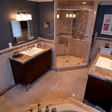 Mediterranean Bathroom by Prava Luxury Tile & Stone