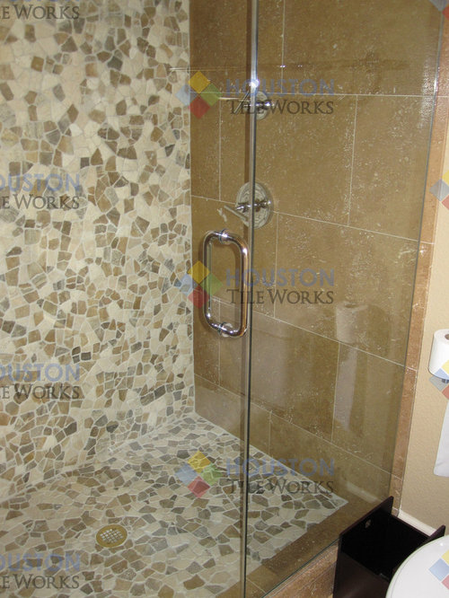 travertine tile bathroom design ideas remodel pictures houzz