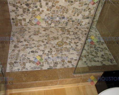 Example Of A Tuscan Bathroom Design In Houston
