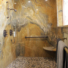 eclectic bathroom by Langford Construction Co., Inc