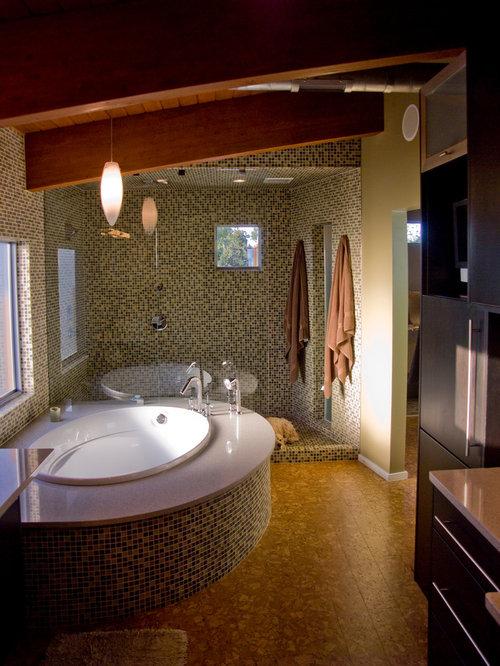 Bathroom design ideas renovations photos with dark wood for Bathroom designs cork