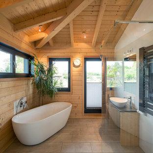 badewanne rustikal, rustikale badezimmer mit freistehender badewanne ideen, design, Design ideen