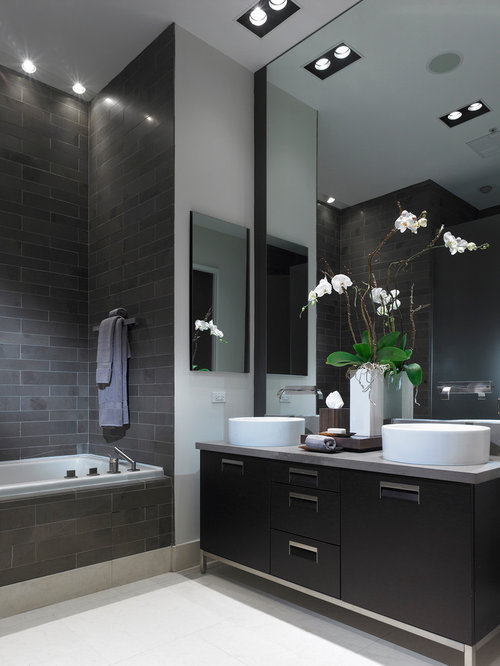 black bathroom vanity home design ideas pictures remodel and decor