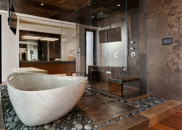 Contemporary Bathroom by Assemblage Studio