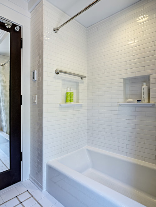 Subway Tile Niche Ideas Pictures Remodel And Decor