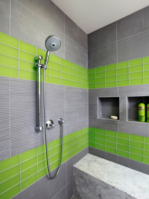 Grey and green bathroom home design ideas pictures for Green and gray bathroom designs