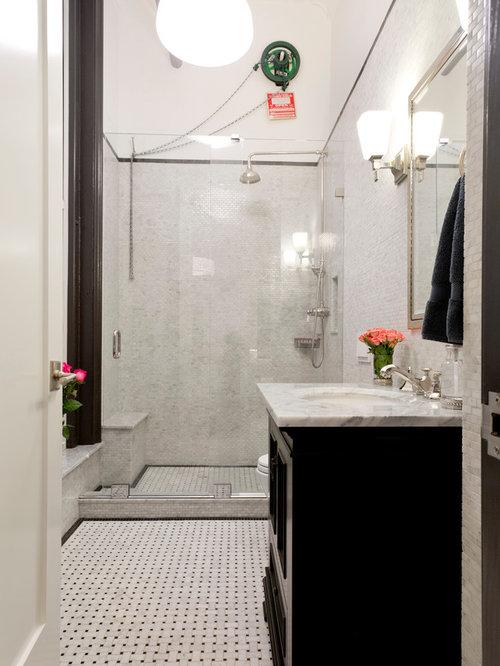 Example of a minimalist bathroom design in New York. 5X8 Modern Bathroom Ideas   Houzz