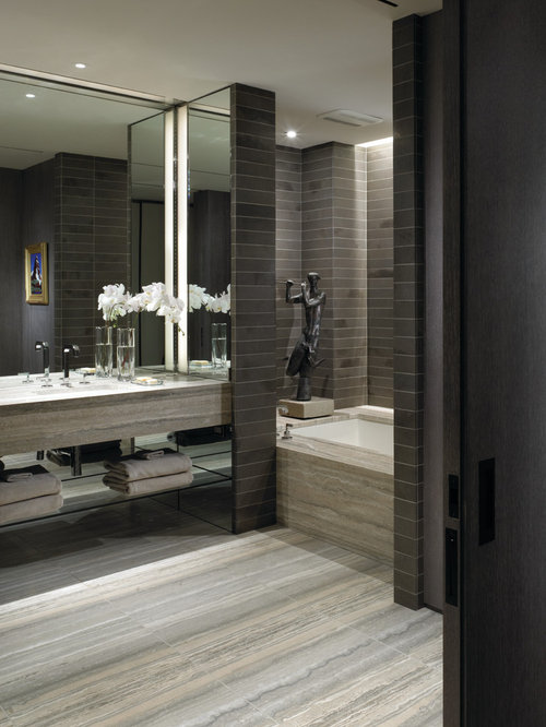 Grey Travertine Houzz