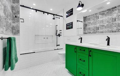 Subway Graphics Inspire a Master Bathroom Renovation