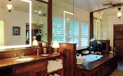 tropical bathroom Trigg-Smith Architects - Project - An Island Estate