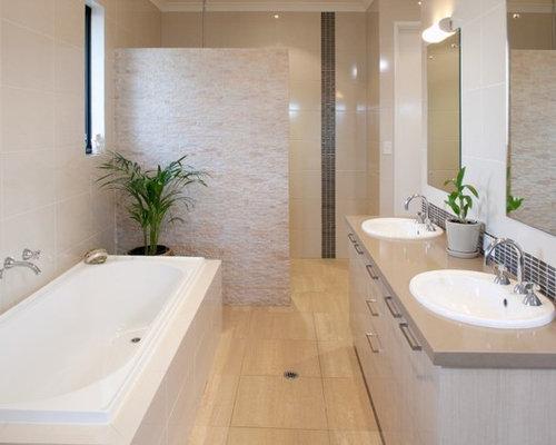 Perth bathroom design ideas renovations photos with a for Two piece bathroom ideas
